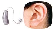 補聴器装着外観